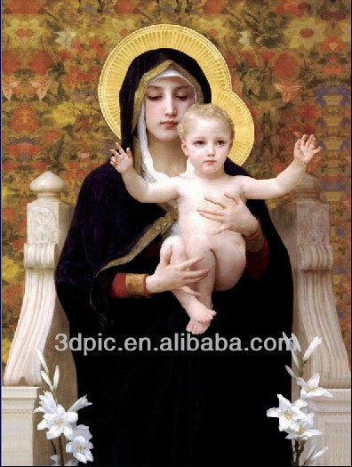 3d printing technology lenticular picture of virgin mary religious