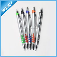 Popular high quality ball pen with metal clip