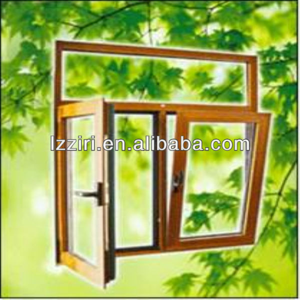 Tilt Chinese manufacturing aluminum windows and to tilt and rotate the open window of hollow glass