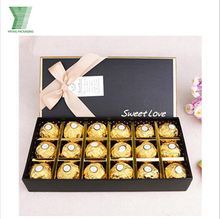 Fashion custom food packaging chocolate truffle box candy with paper divider