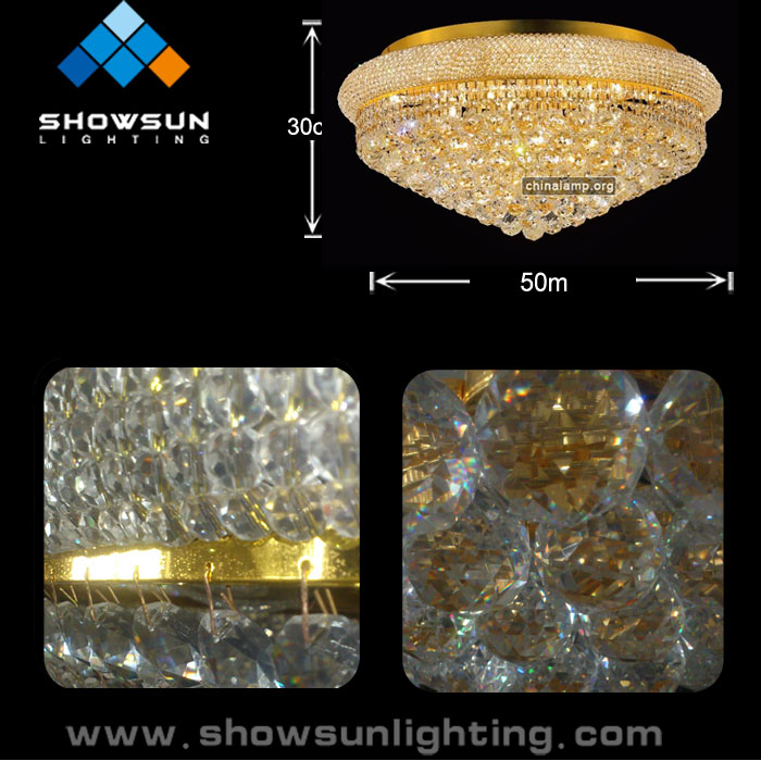 Big crystal chandelier of decoration lighting ALD-1201-C0110B