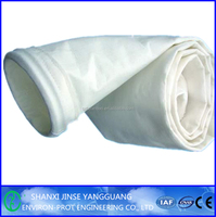 Acid-resistant polyester filter bag for cement industry dust filter bag