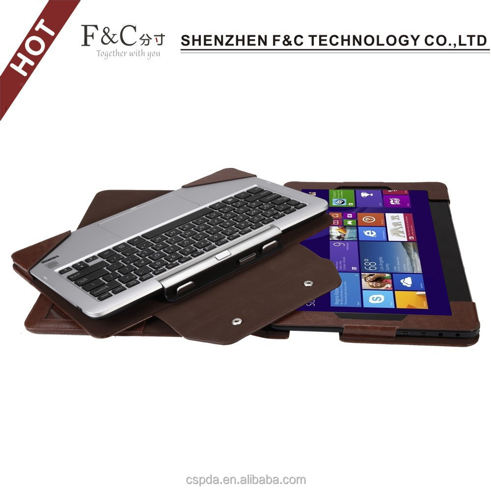 Factory price 11.6 inch removable leather tablet keyboard cover case for asus transformer book t200