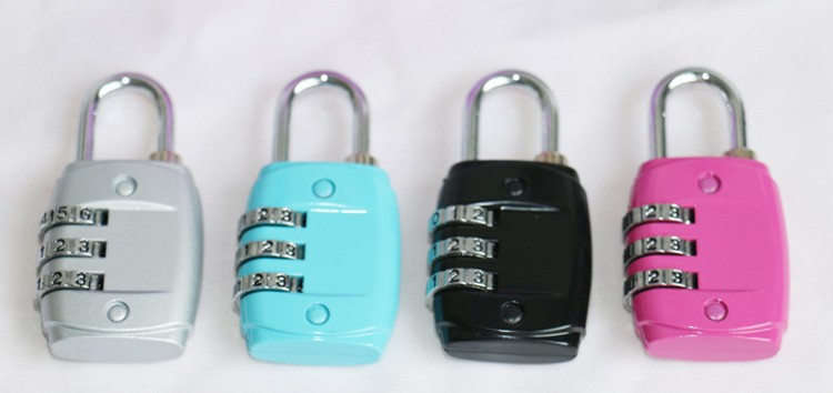 CH-13H Chinese Manufacturer Selling Colored 3 Codes Suitcase Combination Lcok