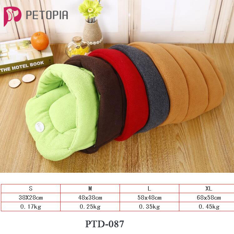 5 Colors Soft Fleece Winter Warm Pet Dog Bed 4 different size Small Dog Cat Sleeping Bag Puppy Cave Bed