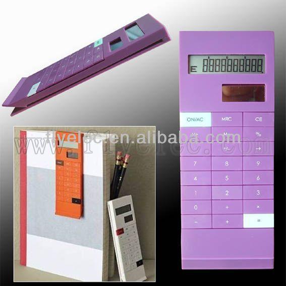 solar calculator with clip