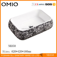 Low price colorful ceramic art basin sink