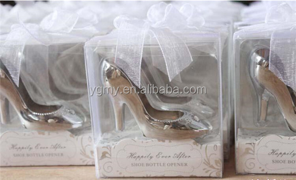Creative Cinderella High Heel Shoe Design Wine Bottle Opener For Home Party Wedding Favors Gift Boxed wedding decoration
