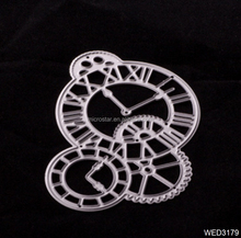 2017 New Clock Frame Metal Scrapbooking Die Cuts Craft Decorative Embossing Folder Paper Cards Template Cutting Dies Stencils