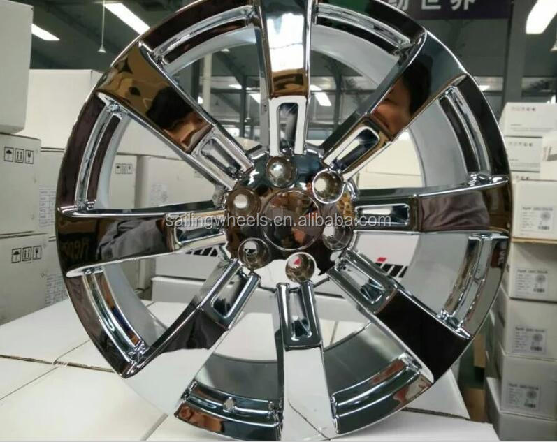 22x9.0 inch chrome alloy wheel 6x139.7 mm