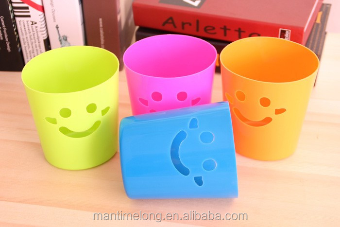 Smiley mini trash can bins trash custom made trash cans