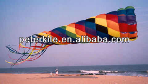 large spinning windsock kite