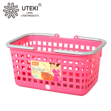 China design carry plastic shopping hand basket