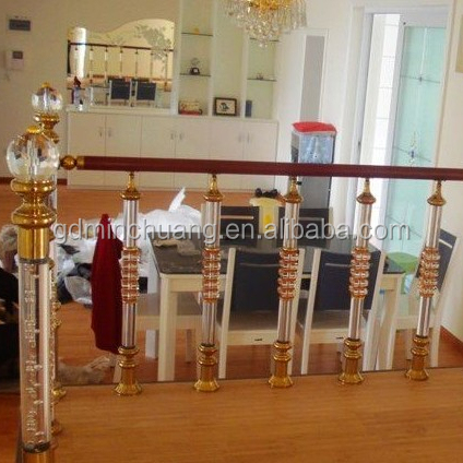 Crystal Baluster For Staircase Decorative acrylic copper stair use post