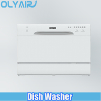 Hot sale six washing programs stainless steel mini countertop dishwasher machine, dish washer, dishwasher