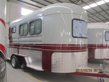 2 horse angle trailer made in China , camper trailer used horse carriages for sale, horse trailer ramp