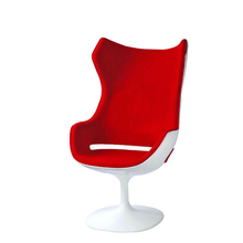 high back rest fiberglass fabric leisure home chair for living room decoration