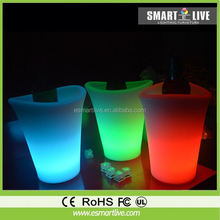 colored led ice cooler/modern outdoor led bucket/bucket table