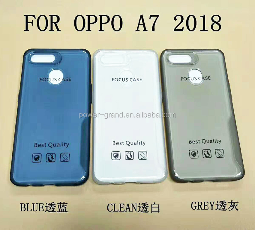 Soft mobile phone Focus TPU protective case cover for Oppo A7 2018