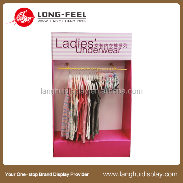 new design customized clothing display shelf