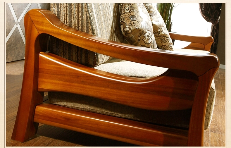 Teak wood sofa set design for living room living room for Wood furniture design sofa set