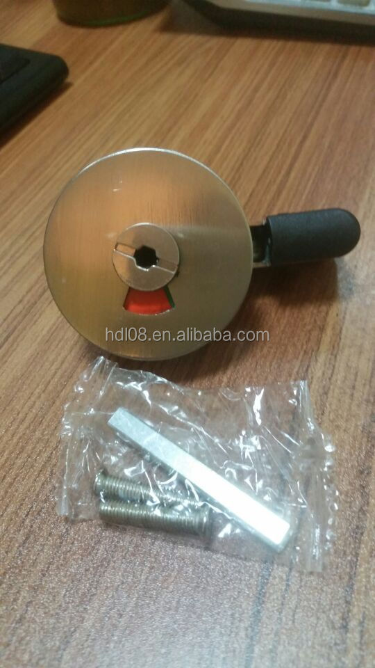 Toilet Cubicle Hardware Fittings Zinc Alloy Indication Door Handle Lock