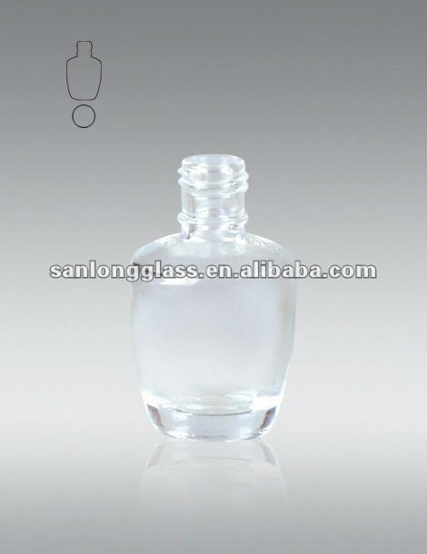 D-OPL15-15ML cylinder-shaped domestic polish glass bottle