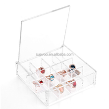 Hot selling organizer clear acrylic jewelery display box
