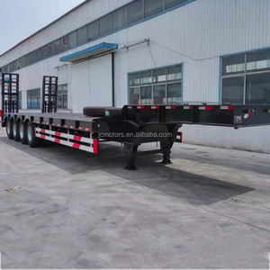 China manufacturing used and new 4 Axle 60Ton Semi Truck Trailer