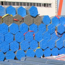 saudi steel pipe Galvanized iron round gi pipe price for greenhouse