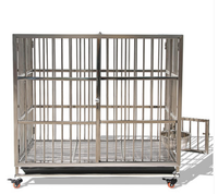 High Quality Wholesale Cheap Iron Fence Dog Kennel Metal Folding Dog Cage