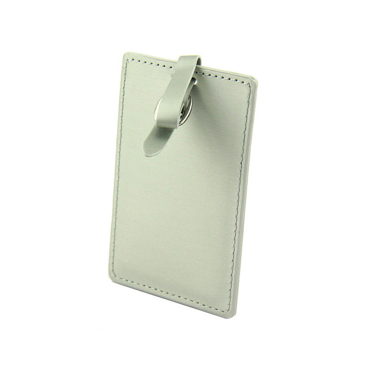 Custom white pu leather suitcase lable luggage tag bag travel accessories