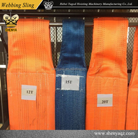 1T 2T 3T 5T 10T 20T Polyester Lifting Webbing Sling/Crane Belt