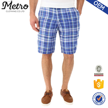 Summer Style Print Design Slim Fit Mans Linen Shorts