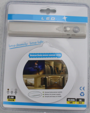 Motion Activated Bed Light Flexible LED Bed Strip Light Kit Motion Sensor Night Light