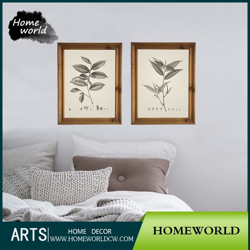 Customized simple flower wooden photo frame hot