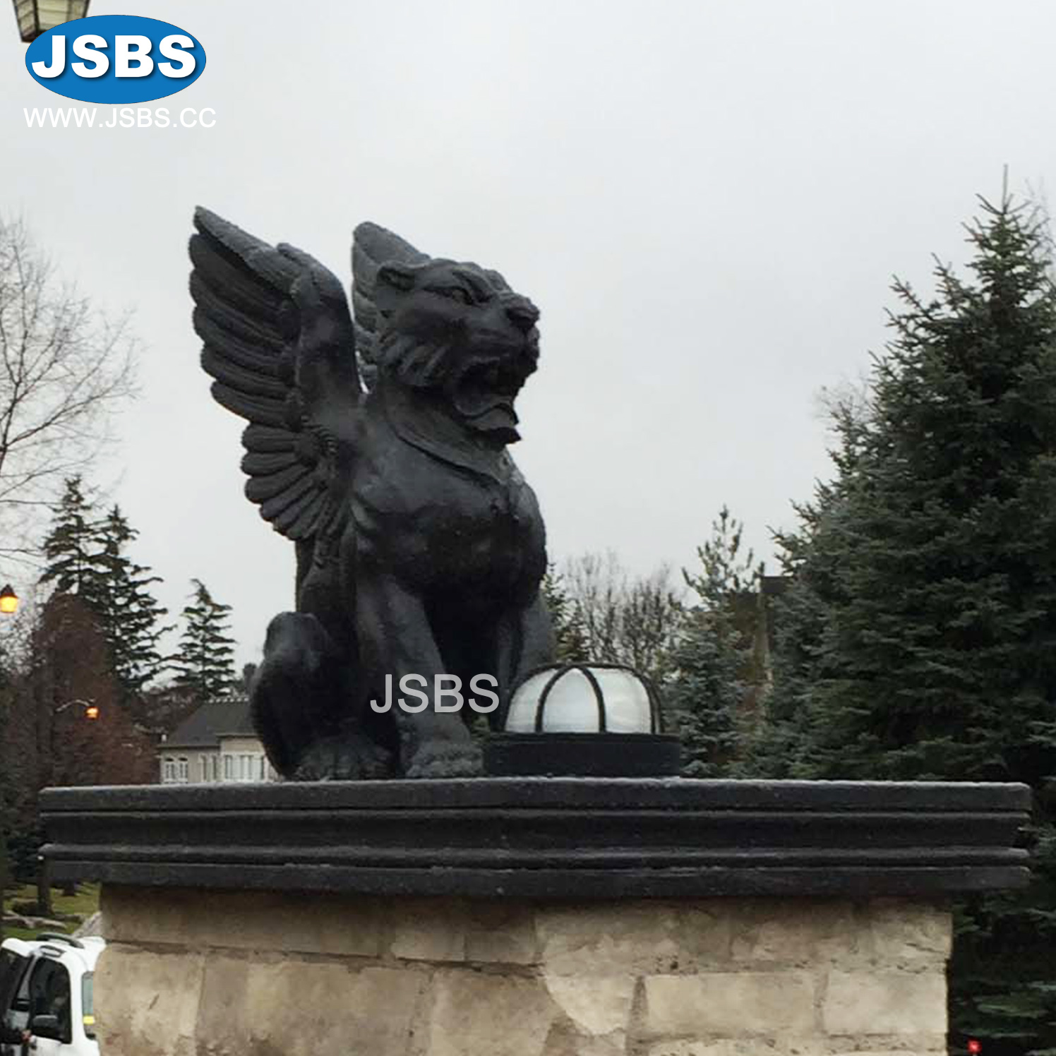 Winged Lion Statue | Hand Carved Lion With Wings Statue