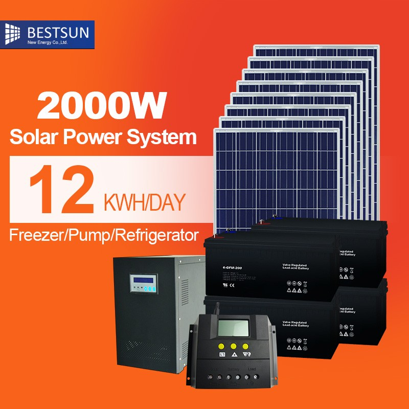 2000w pure sine wave completesolar energy systemmonocrystalline solar cells commercial price pannello solare automobile