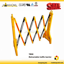 yellow&black 96cm traffic plastic folding barrier for roadway <strong>safety</strong>