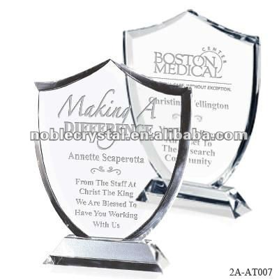 Noble Honor Shield Crystal Trophy