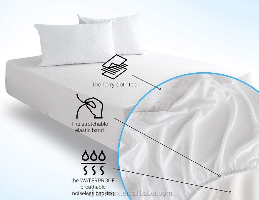 Breathable Fitted Style Terry Cotton Waterproof Mattress Cover - Jozy Mattress | Jozy.net