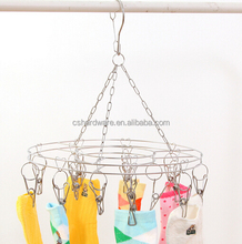Clothes Socks Shorts Underwear Drying Rack Household Racks Clips Stainless Steel socks hanger with clips