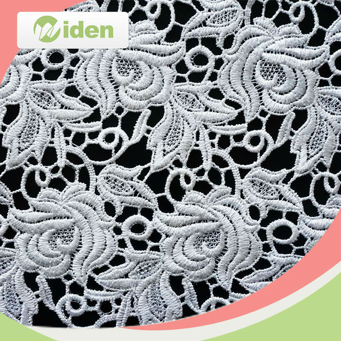 130 CM 100 Polyester Lace Fabric, Chemical Lace Fabric, Textile Lace Fabric
