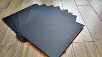 sinzoo waste paper made paperboard stocklot black paper/hard board supply