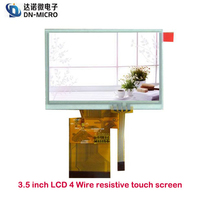 Low price 3.5 inch small resistive 4 wire touch panel screen for Handheld devices