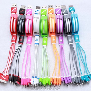 2016 new trendy 4in1 USB Charging Data Transfer High Speed Cord Cable for iphone6 iphone5 note3 galaxy