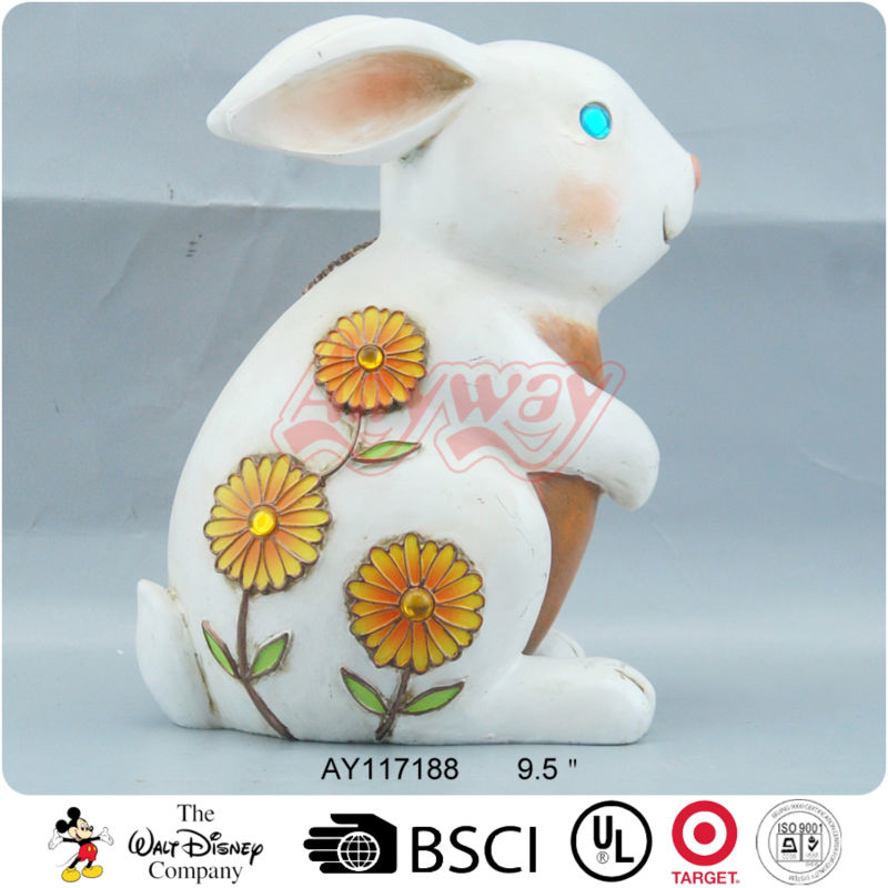 Rabbit figurine for garden lawn decoration home ornament