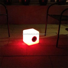Outdoor LED light speaker,mini cube speaker,music speaker box