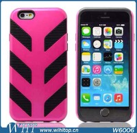Silicone Protective Case for iPhone 6, Colorful Robot Case for iPhone 6 4.7""