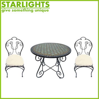 Cheap garden mosaic slate Bistro 3 Piece Set